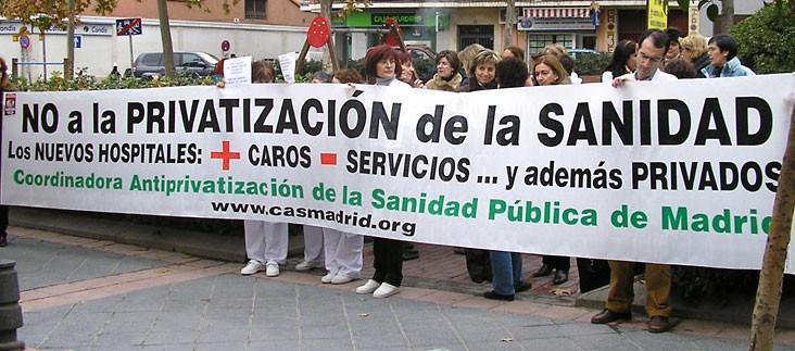 Privatizacin sanidad Madrid