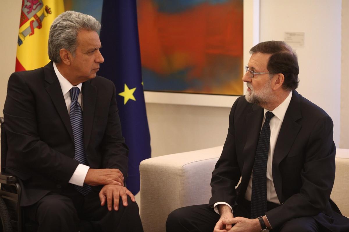 Rajoy recibe al presidente de Ecuador, Lenin Moreno