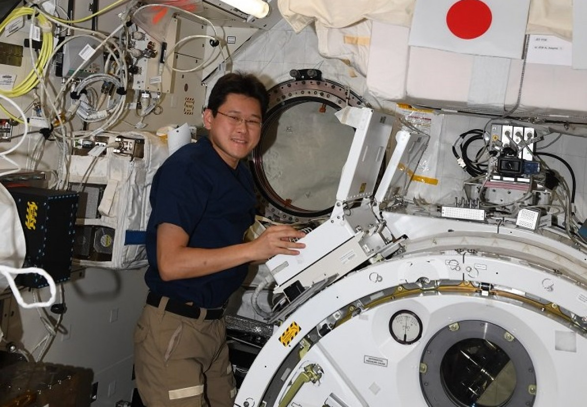 El astronauta japonu00e9s Norishige Kanai