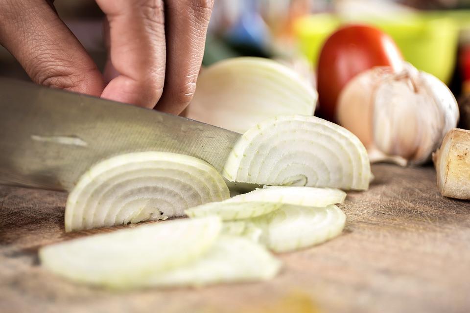 Cortando cebolla