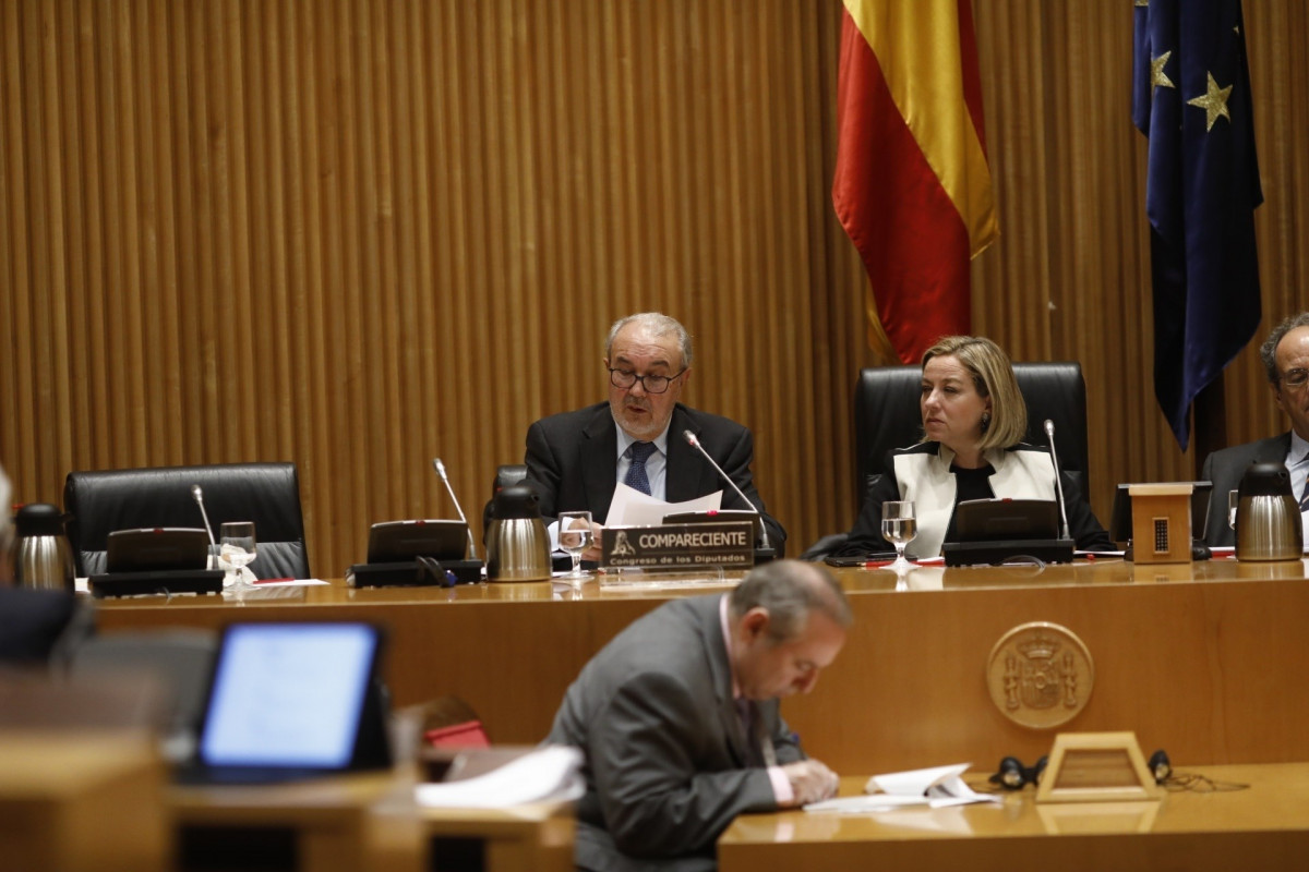 Pedro Solbes comparece en la Comisiu00f3n de Investigaciu00f3n sobre la crisis