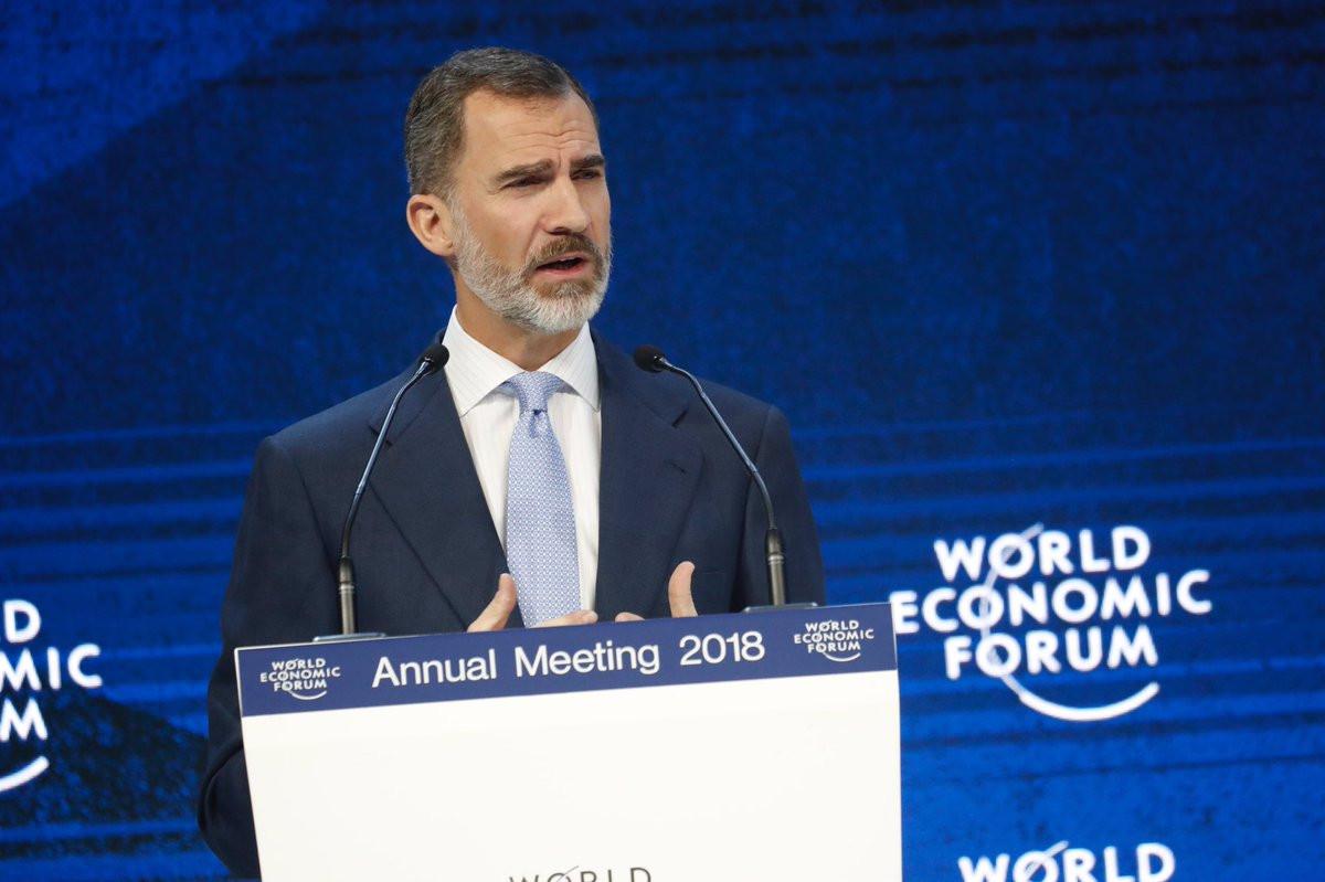 El Rey Felipe VI en Davos