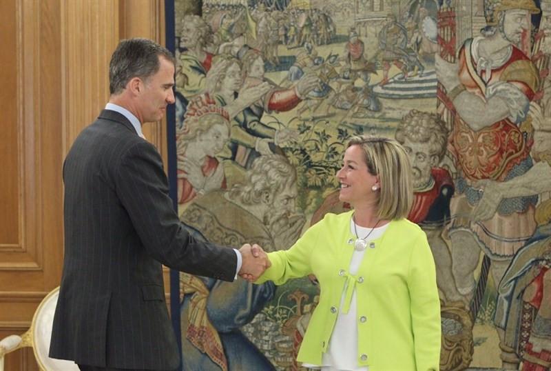 Ana Oramas en su reunión con el Rey