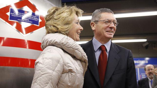 Esperanza Aguirre y Alberto Ruiz Gallardon