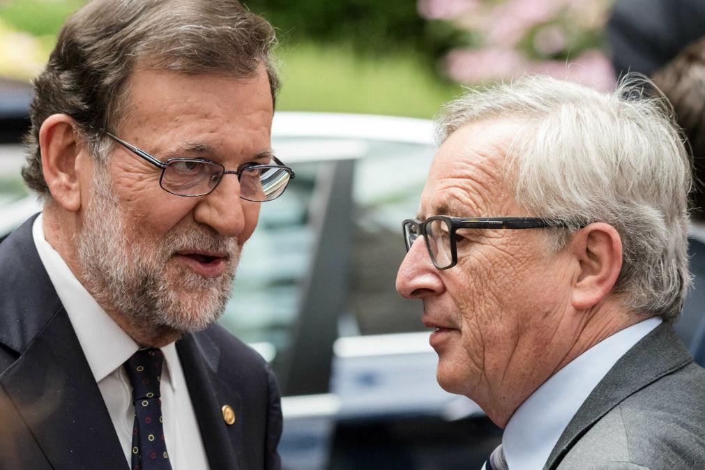Mariano Rajoy y Jean Claude Juncker