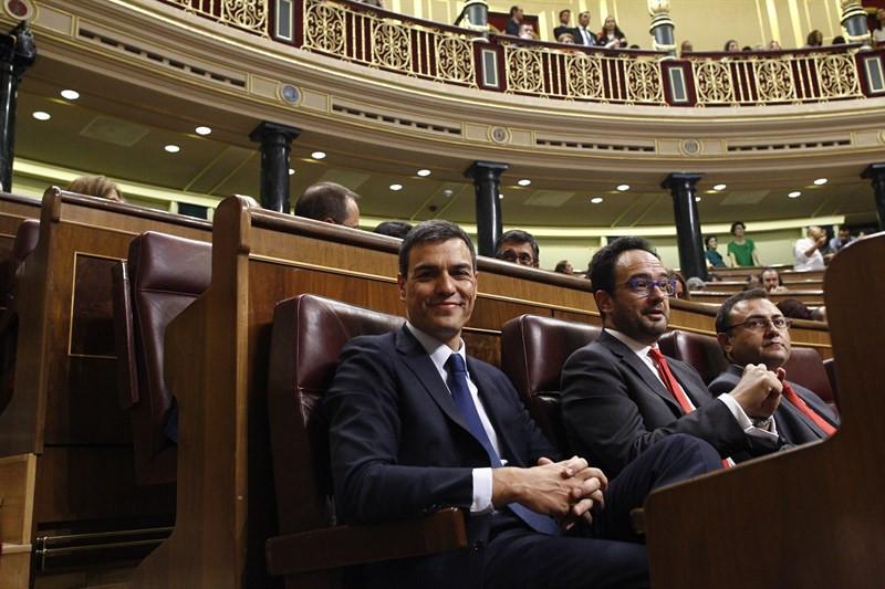 Pedro Sánchez en la sesión constitutiva de la Mesa del Congreso