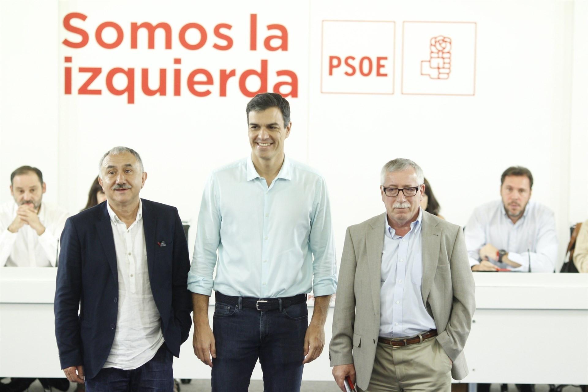 Pedro Sanchez Pepe Alvarez Ignacio Fernandez Toxo