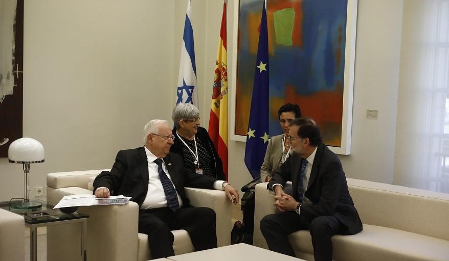 Rajoy recibe en Moncloa presidente de Israel