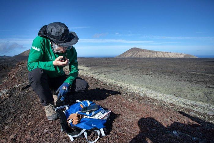 Astronauta practicando en Lanzarote
