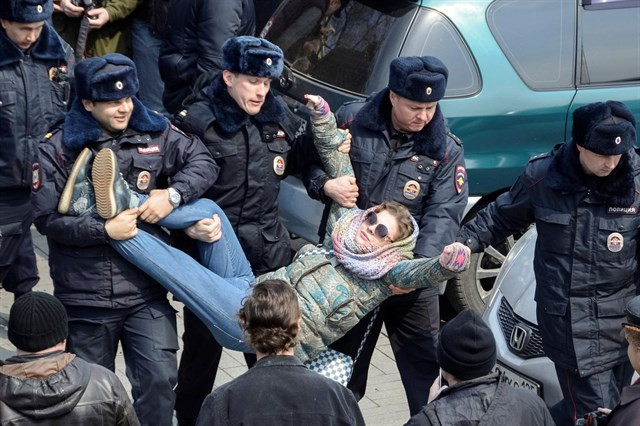 Detenidos rusia