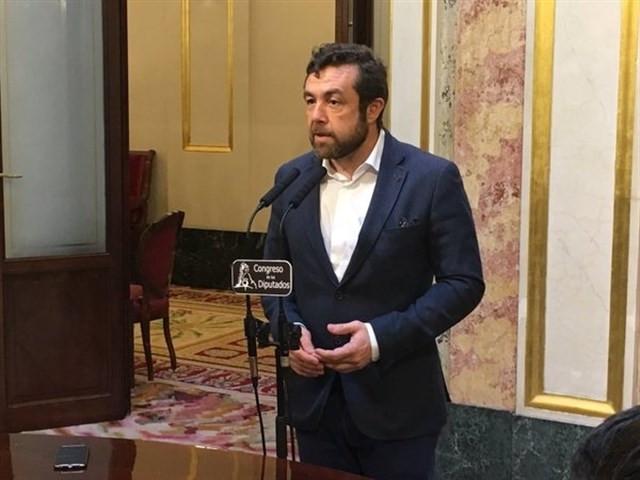Miguel Gutiérrez durante un discurso