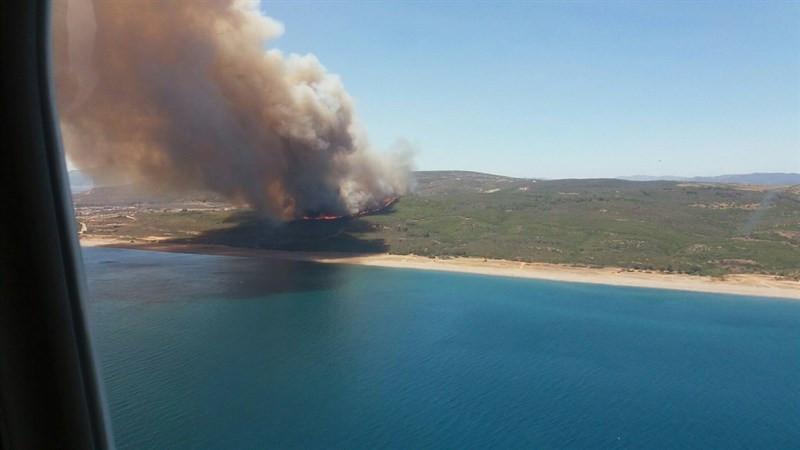 Incendio en la costa