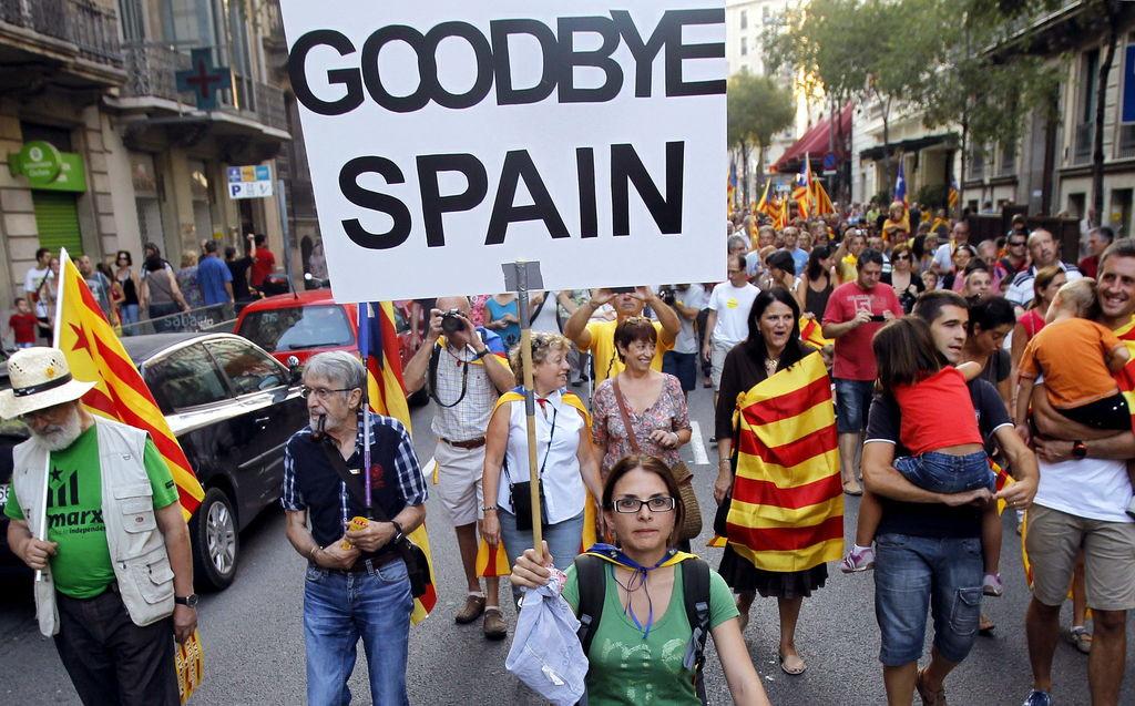 Manifestacion separatista barcelona