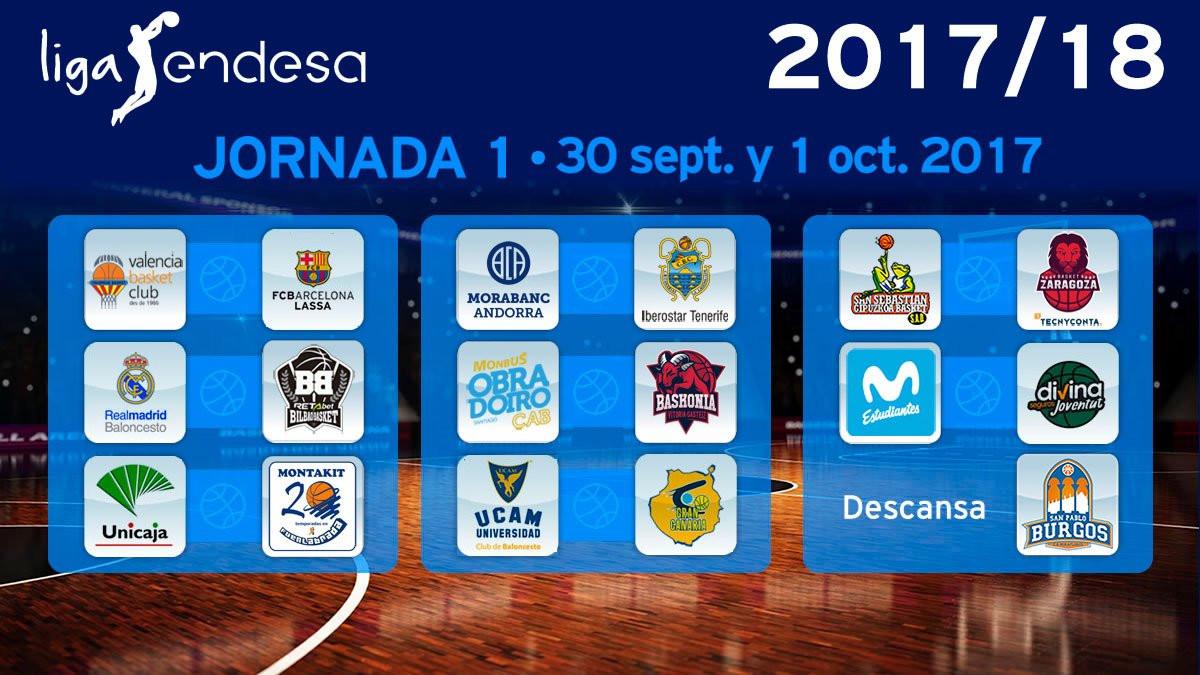 Primera jornada liga endesa 17 18