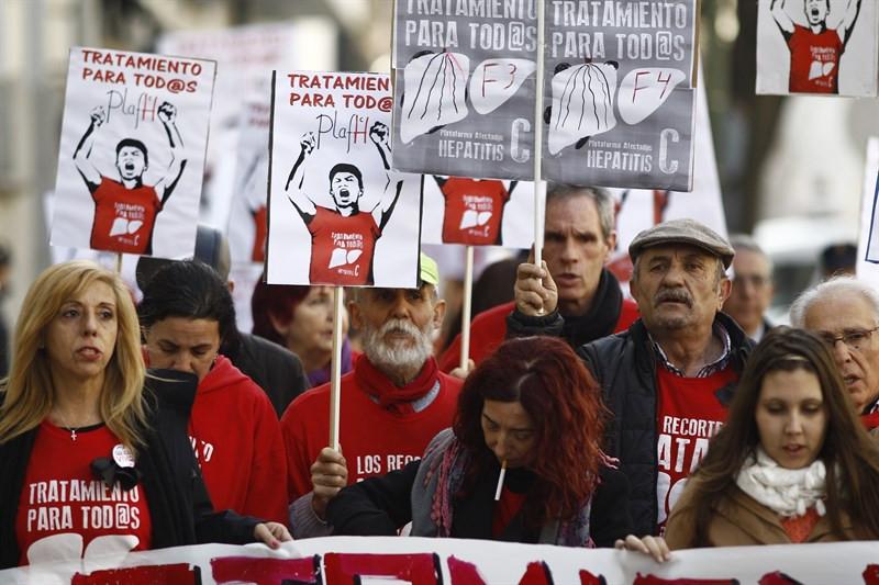 Protestas hepatitis c
