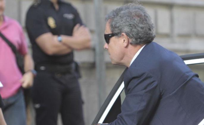 Jordi Pujol Ferrusola abandona la Audiencia Nacional tras declarar cinco horas ante Ruz