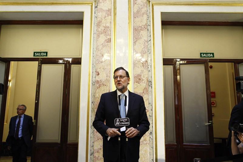Mariano Rajoy durante la sesión constitutiva de la Mesa del Congreso