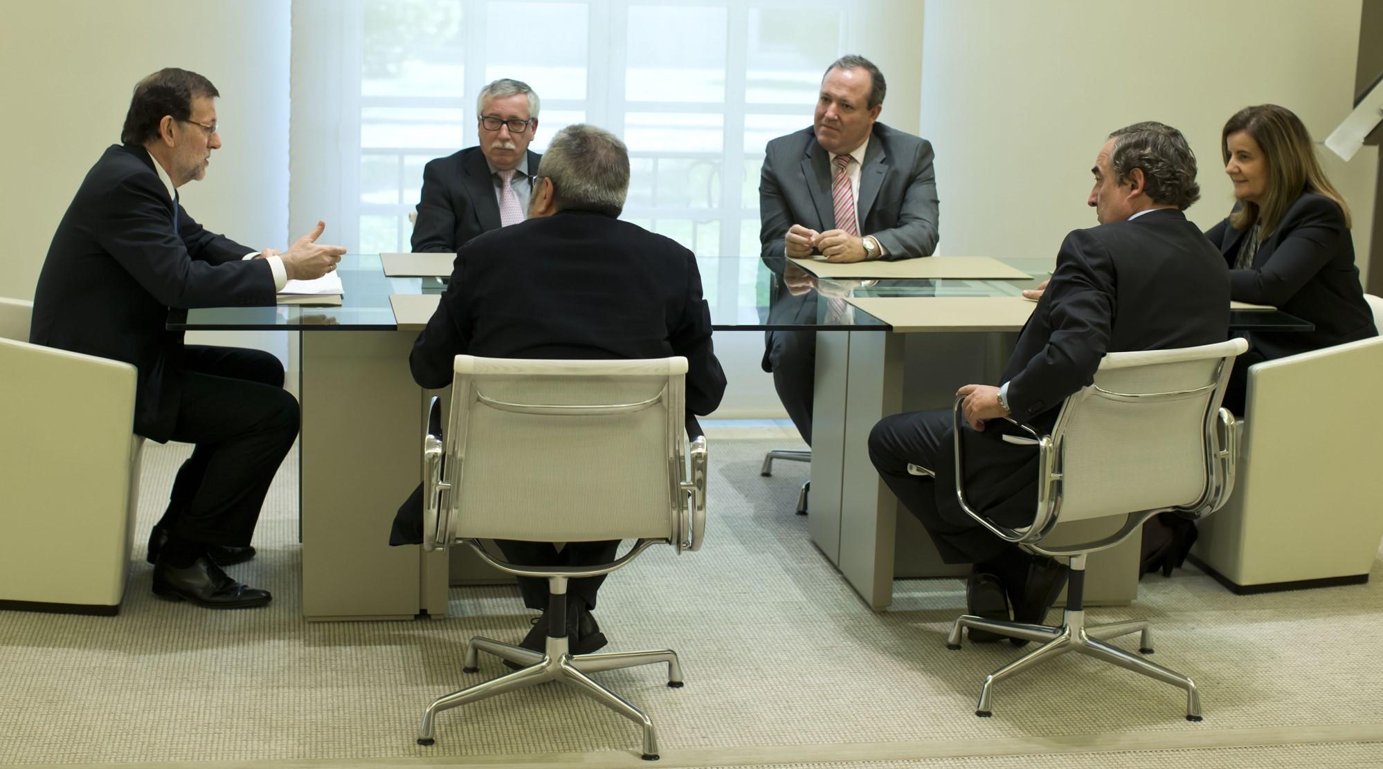 Rajoy moncloa dialogo social
