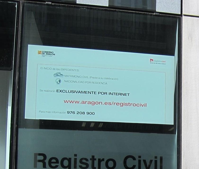 Registro civil zaragoza
