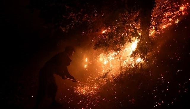 Riesgo extremo incendios asturias