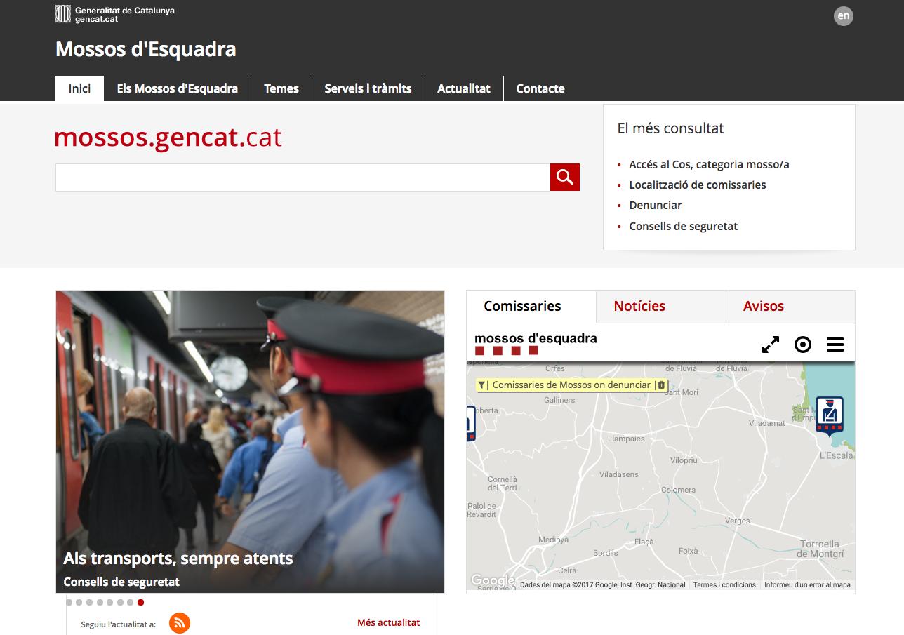 Web mossos esquadra