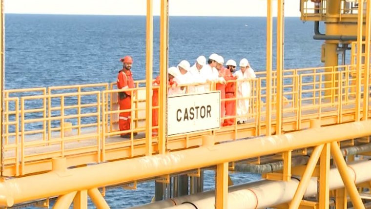 El almacu00e9n de gas Castor