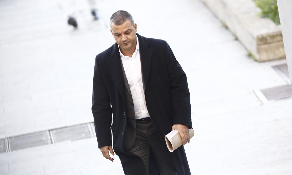 Miguel u00c1ngel Flores a su llegada al juicio por el Madrid Arena
