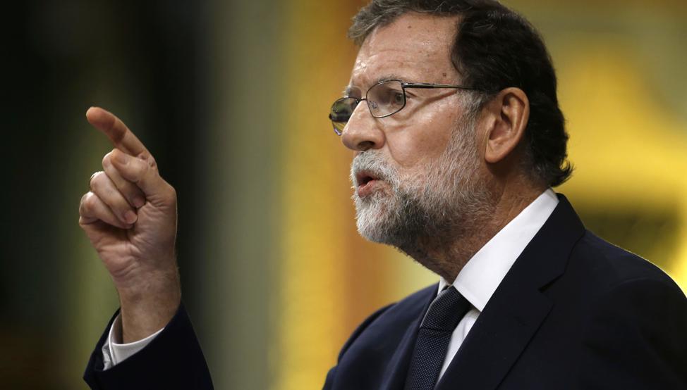 Rajoy dedo