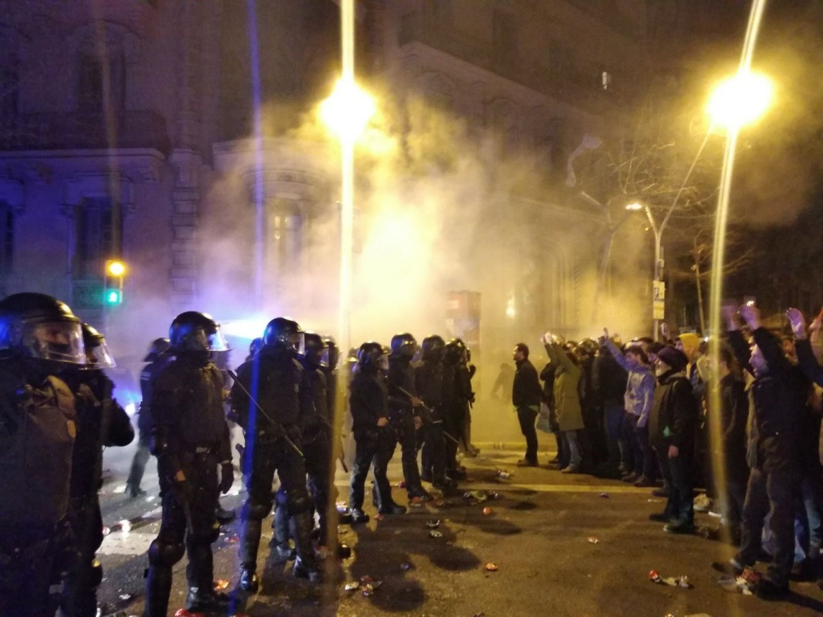 Disturbios en Barcelona por los CDR