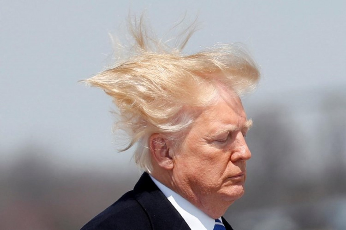 El pelo de Trump vuelve a hacerse viral