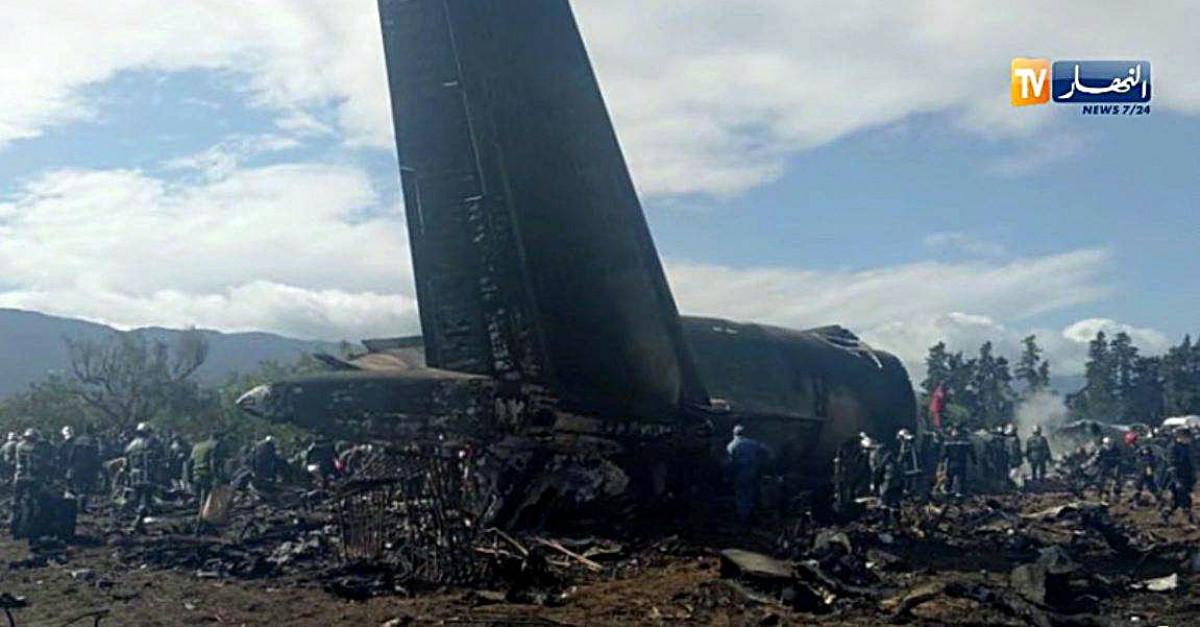 Accidente avion argelia