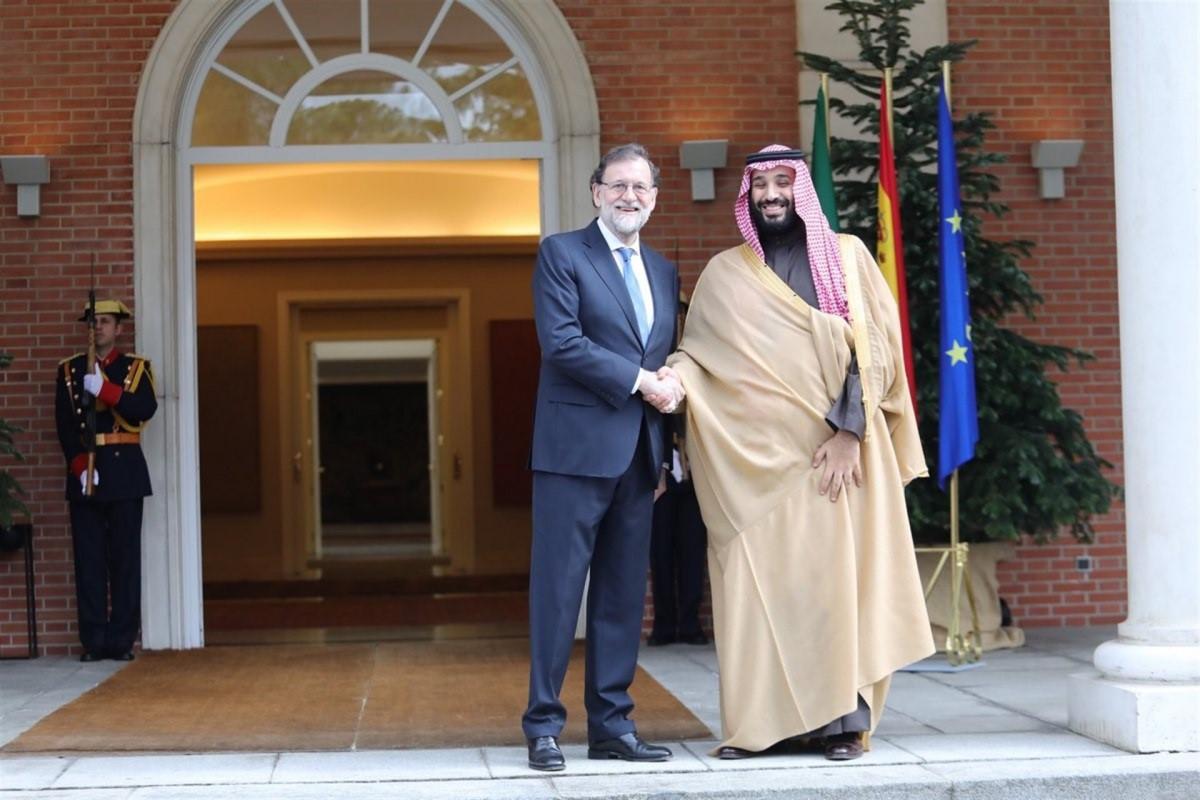 Mariano Rajoy y el pru00edncipe heredero de Arabia Saudu00ed