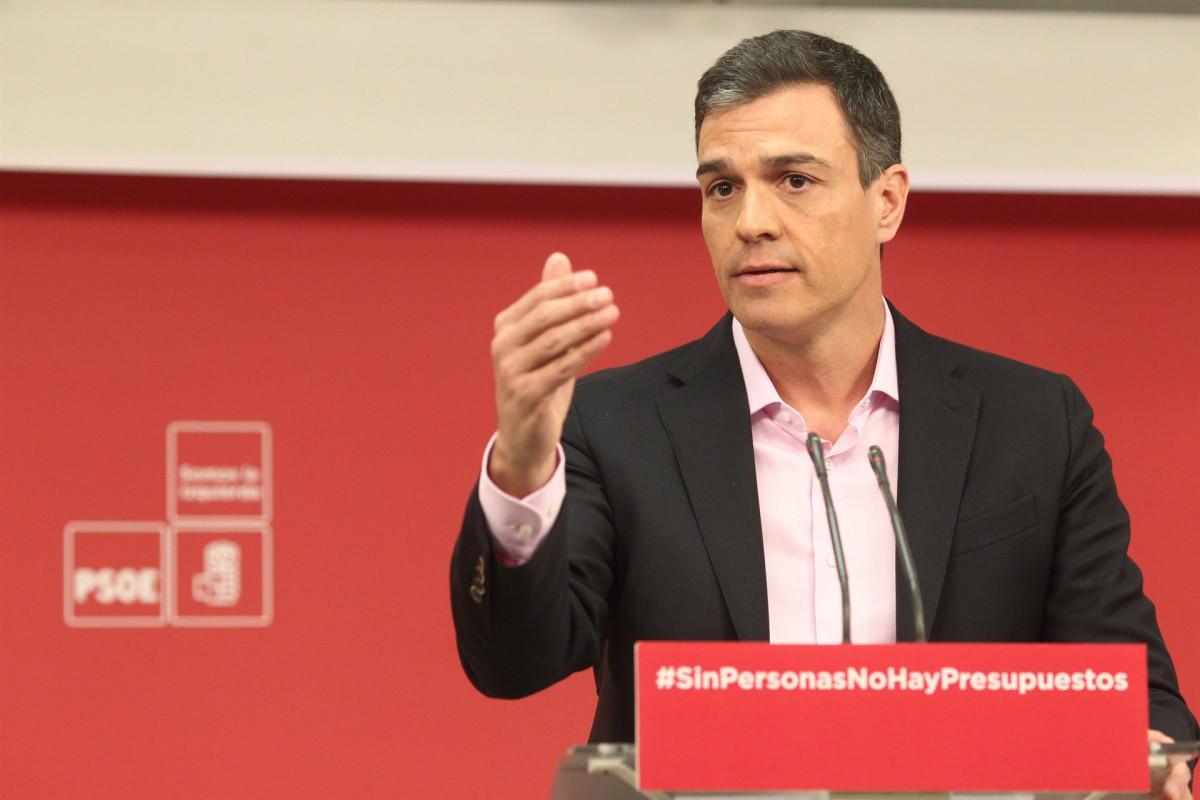 Pedro Su00e1nchez, secretario general del PSOE