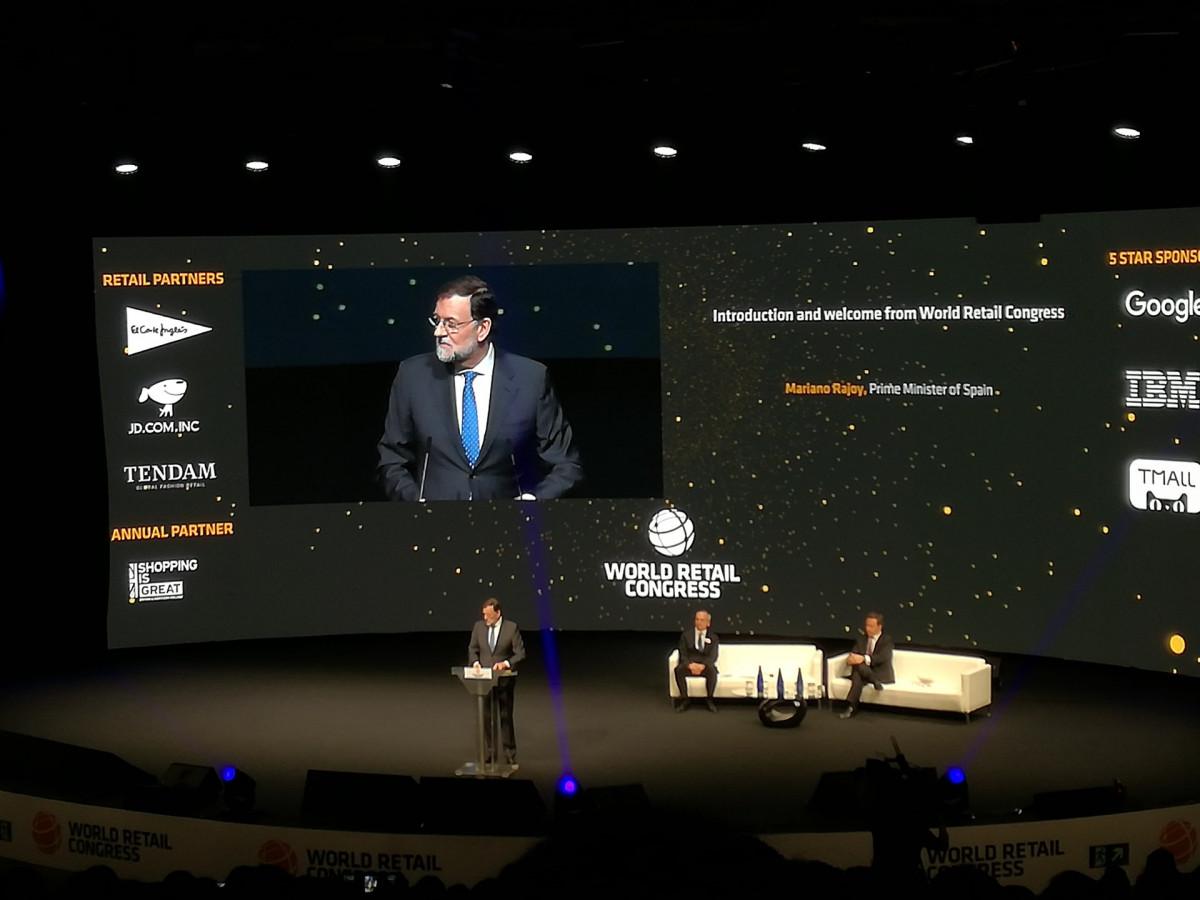 Mariano Rajoy en el World Retail Congress en Madrid