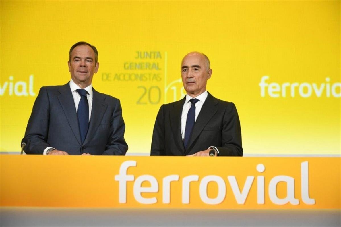 El presidente de Ferrovial, Rafael del Pino, y su consejero delegado, u00cdu00f1igo Meir