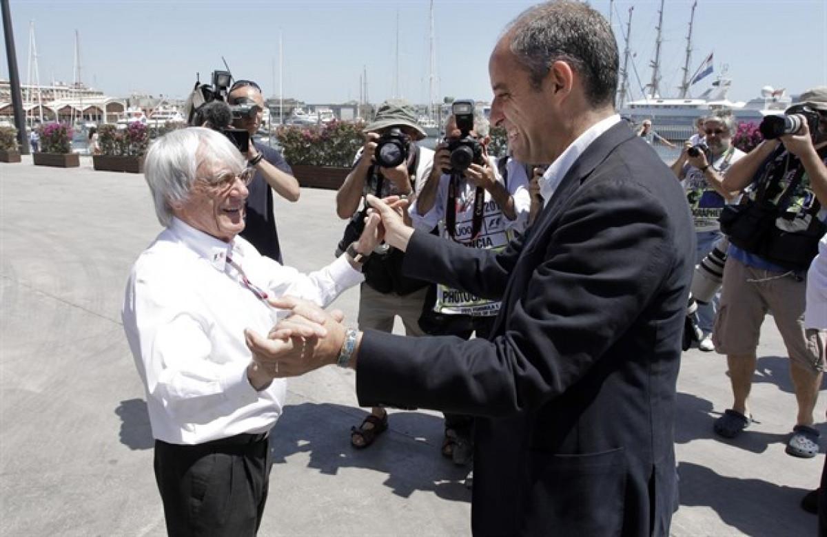 Bernie Ecclestone y Francisco Camps