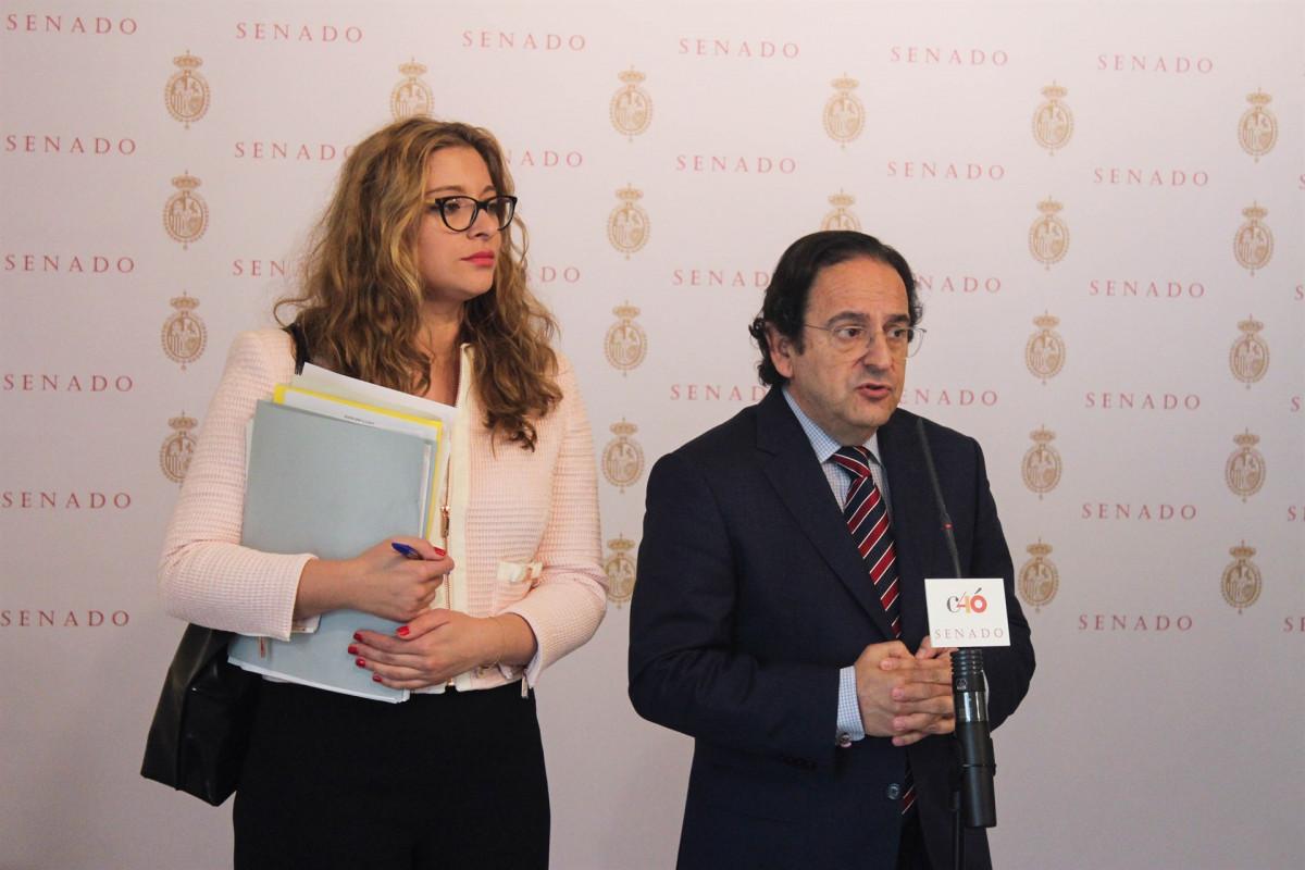 Luis Aznar, comisiu00f3n de investigaciu00f3n de la financiaciu00f3n de los partidos Senado