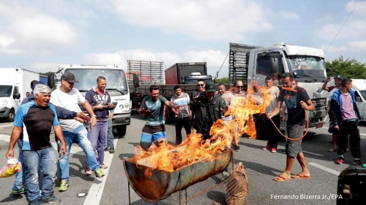 Protestas en Brasil por el precio del combustible