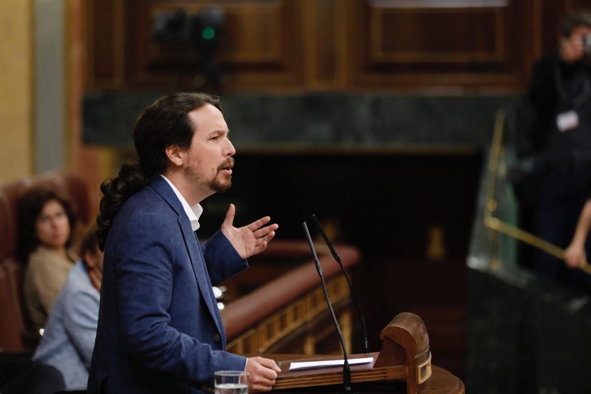 Pablo Iglesias en la moción de censura contra Rajoy