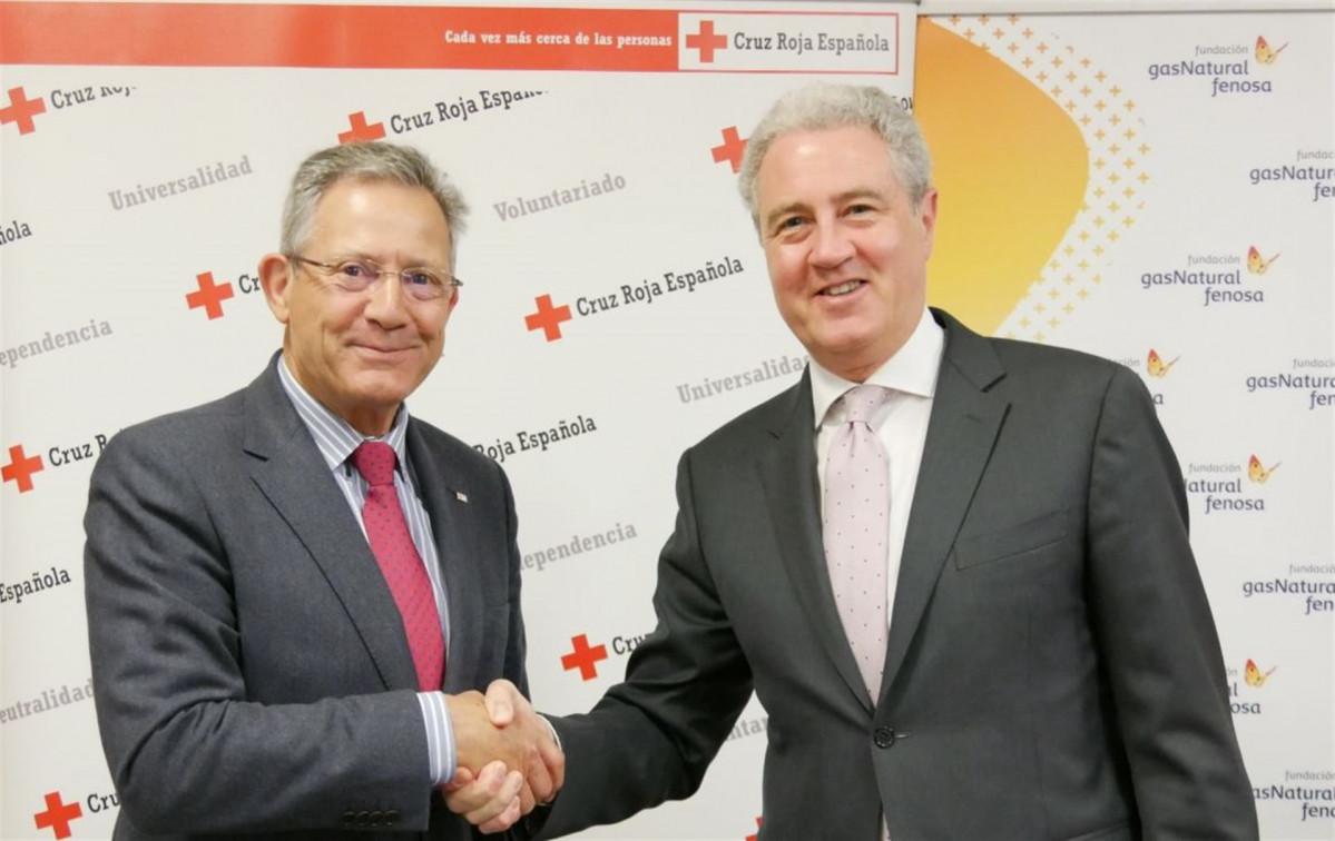 Fundaciu00f3n Gas Natural Fenosa y Cruz Roja Espau00f1ola renuevan convenio
