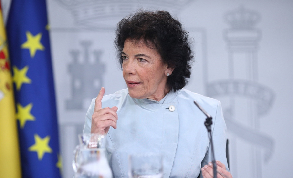 Isabel Celaá, portavoz del Gobierno