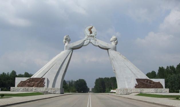 El arco de la Reunificaciu00f3n, en Corea del Norte