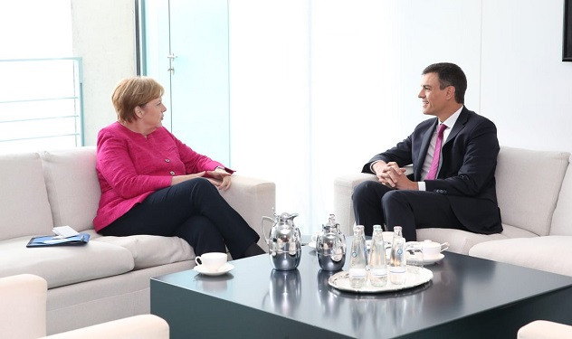 Angela Merkel y Pedro Su00e1nchez