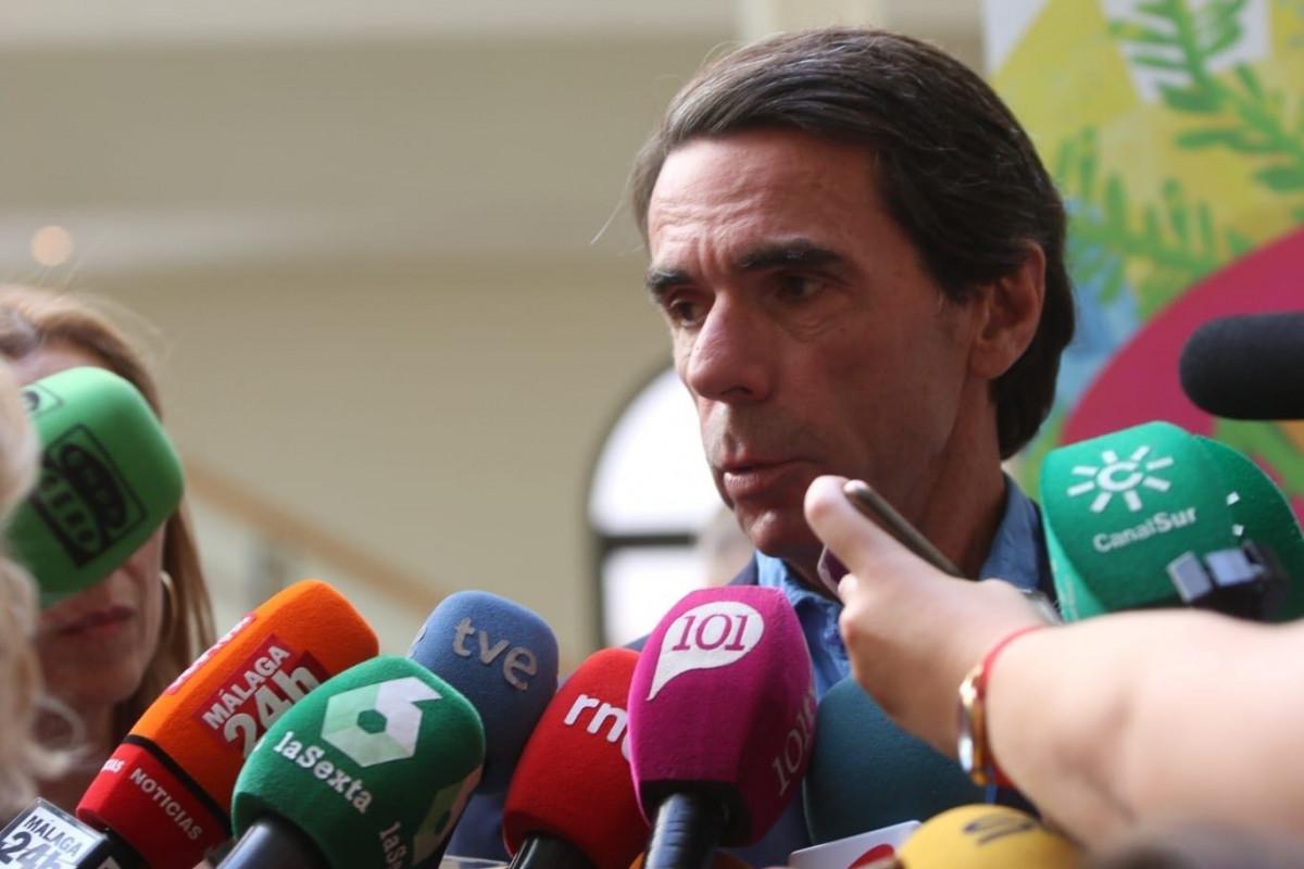El expresidente del Gobierno Josu00e9 Maru00eda Aznar en la UMA cursos Mu00e1laga u00c1LEX ZEA EUROPA PRESS