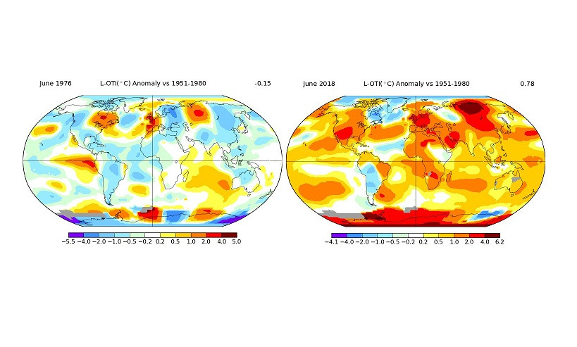 Comparativa temperaturas mundiales 1976 2018