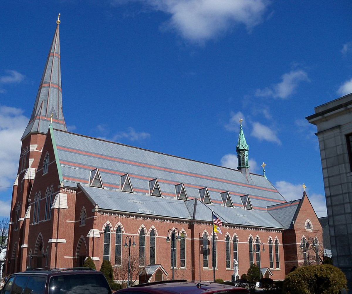 Cathedral of St. Joseph in Manchester, New Hampshire, USA Catholic