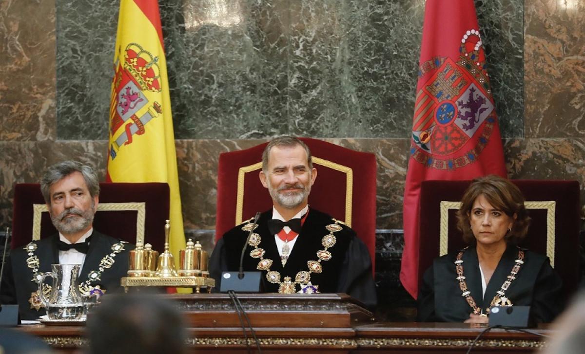 El Rey Felipe VI preside la apertura del Au00f1o Judicial