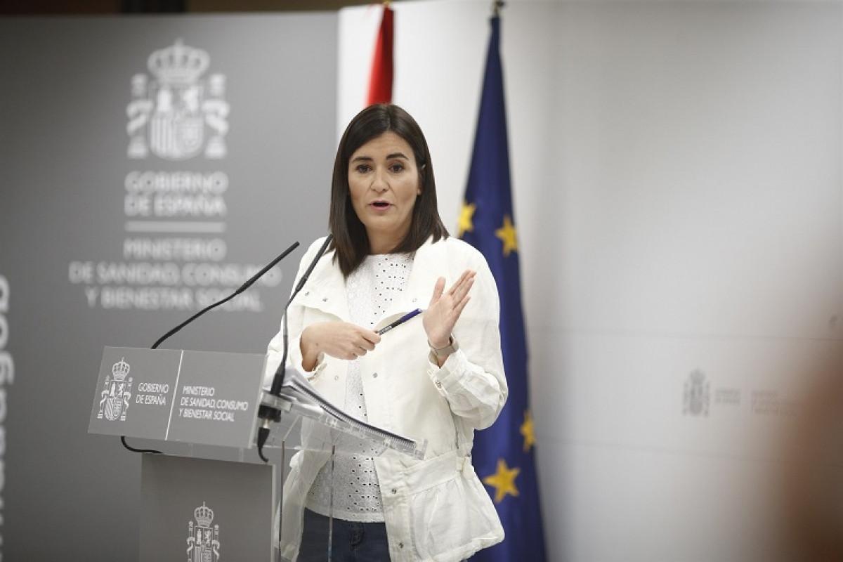 La ministra de Sanidad, Carmen Montu00f3n