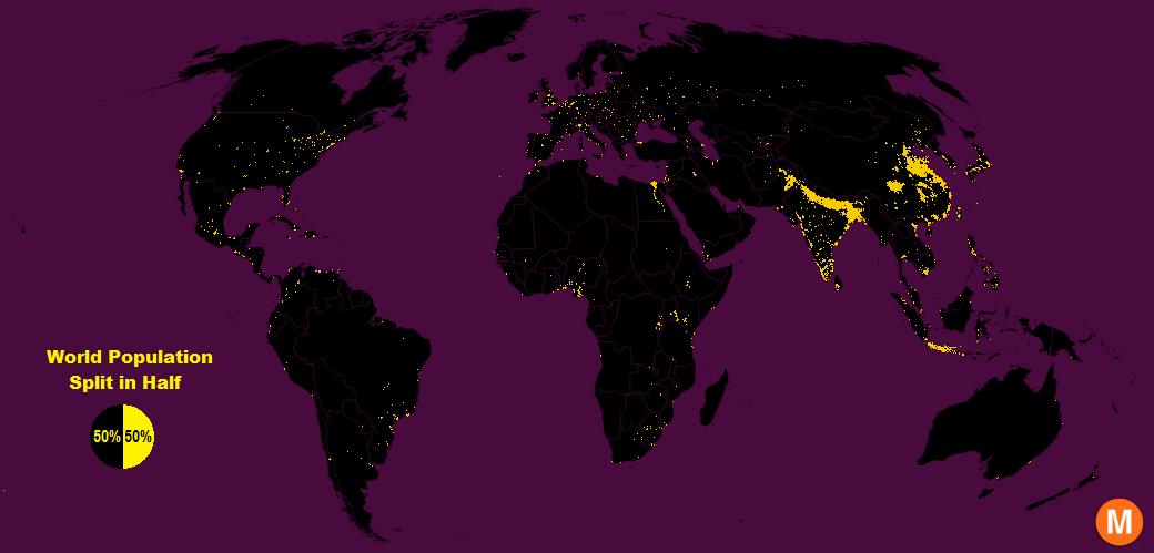 World population in half