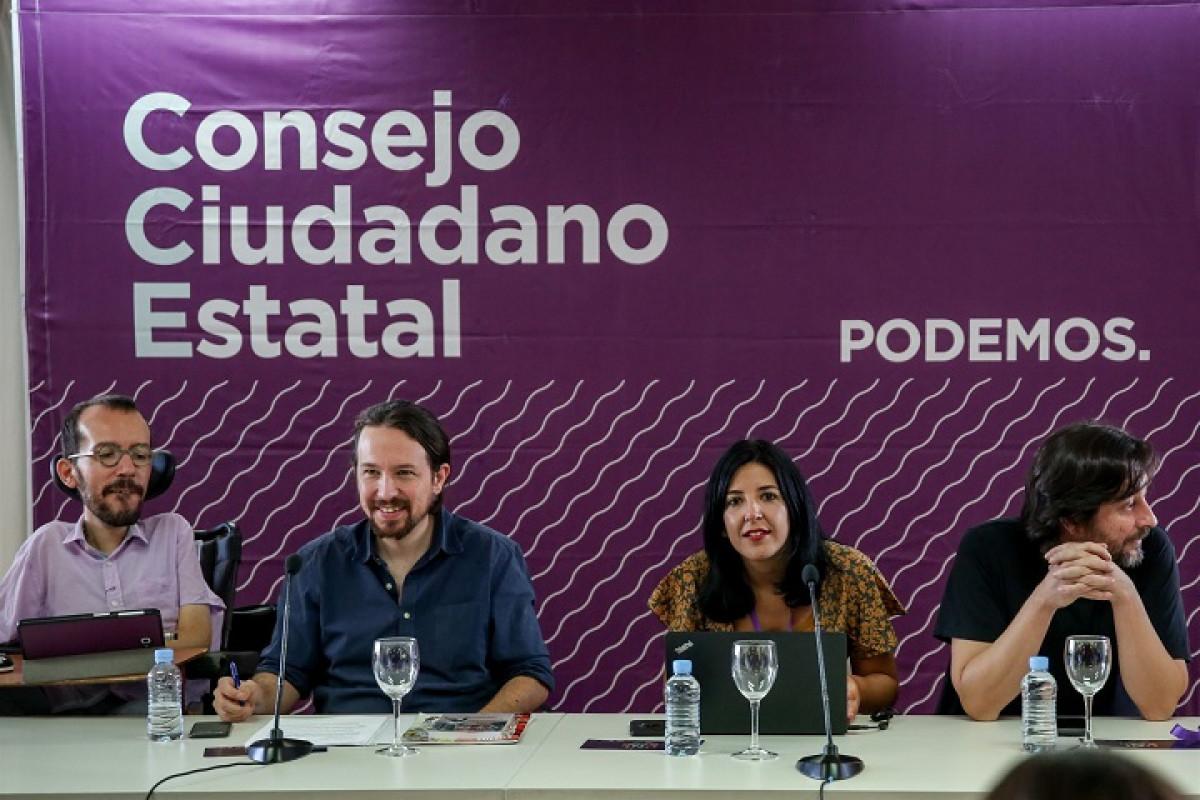 El secretario general de Podemos, Pablo Iglesias, participa en el Consejo Ciudad   Ricardo Rubio   Europa Press